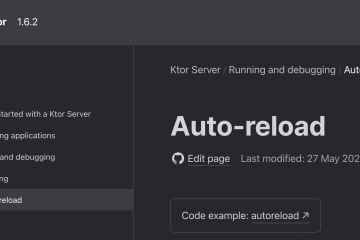 Kotlin > Ktor > Auto Reloadを有効にする